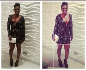 Annie Idibia's Lovely Red Carpet Look Last Night (Photos)